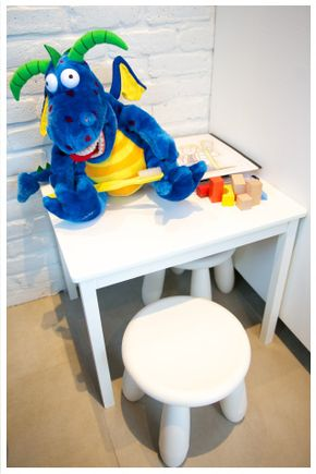 section enfant - toutou dragon bleu