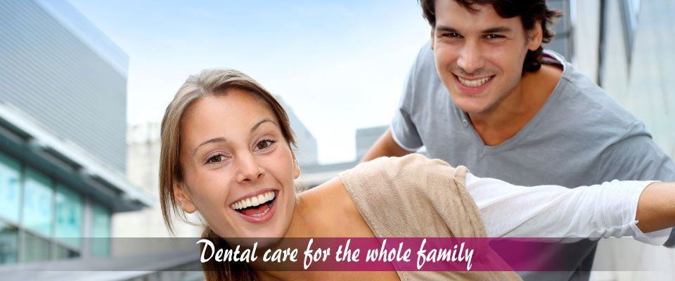 Dental care for the whole family – Young couple