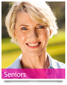 btn-seniors - blonde woman in her sixties smiling
